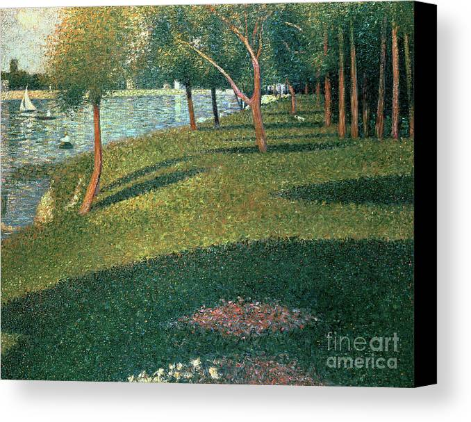 Famous Canvas Print featuring the painting La Grande Jatte by Georges Pierre Seurat