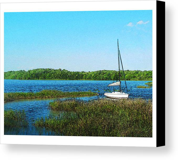 Landscape Canvas Print featuring the photograph Lake At Hamony Fl by Deborah Hildinger