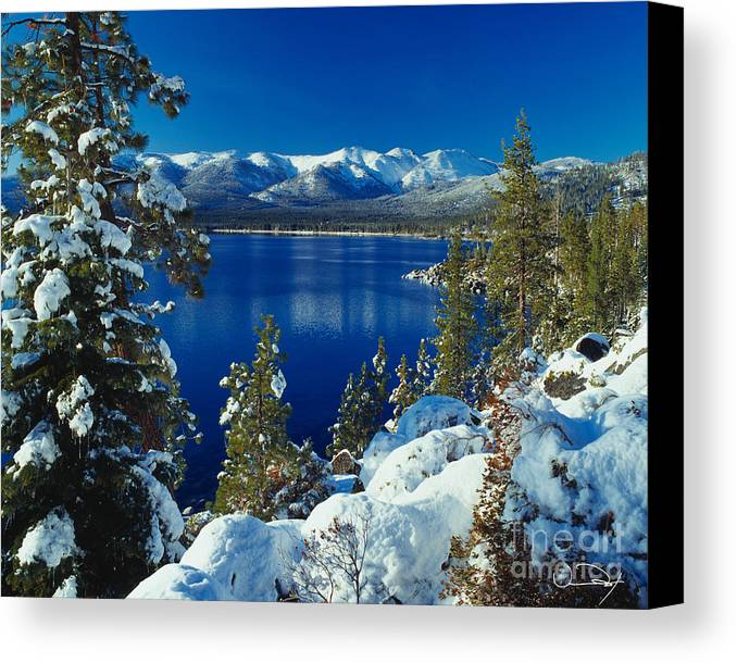 Lake Tahoe Canvas Print featuring the photograph Lake Tahoe Winter by Vance Fox