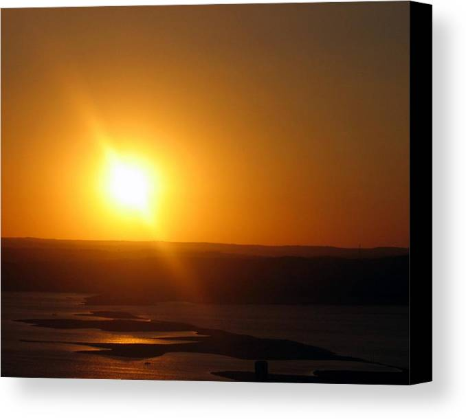 Austin Canvas Print featuring the photograph Lake Travis Sunset by Lindsey Orlando