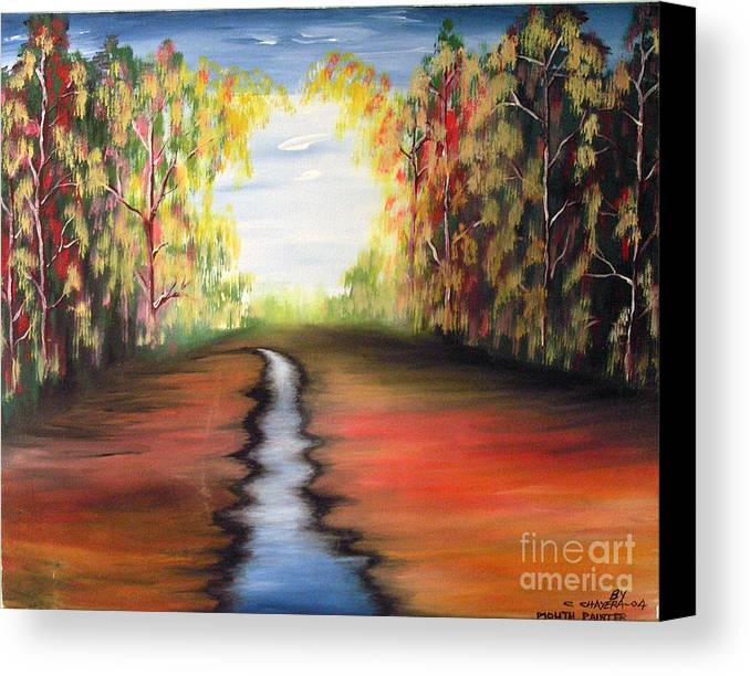 African Canvas Print featuring the painting Landscape 2 by Mount painter-Chrisfold Chayera