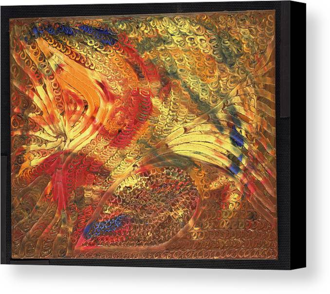 Abstract Canvas Print featuring the painting Le Panache by Dominique Boutaud