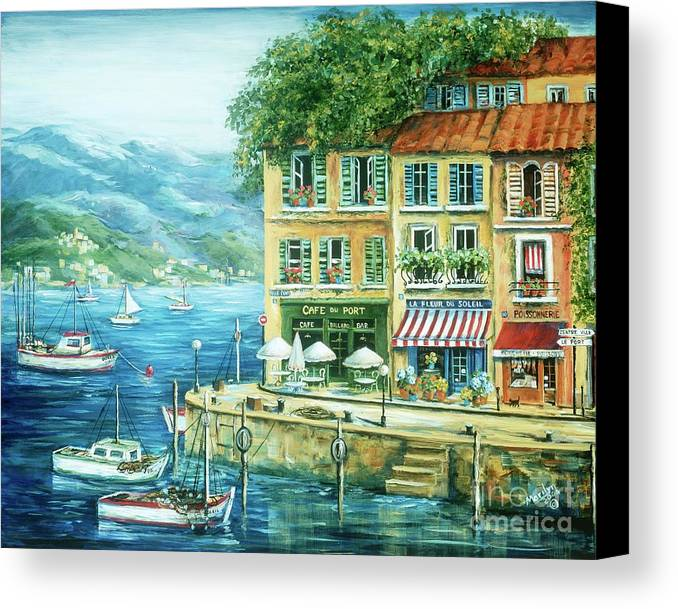 Europe Canvas Print featuring the painting Le Port by Marilyn Dunlap