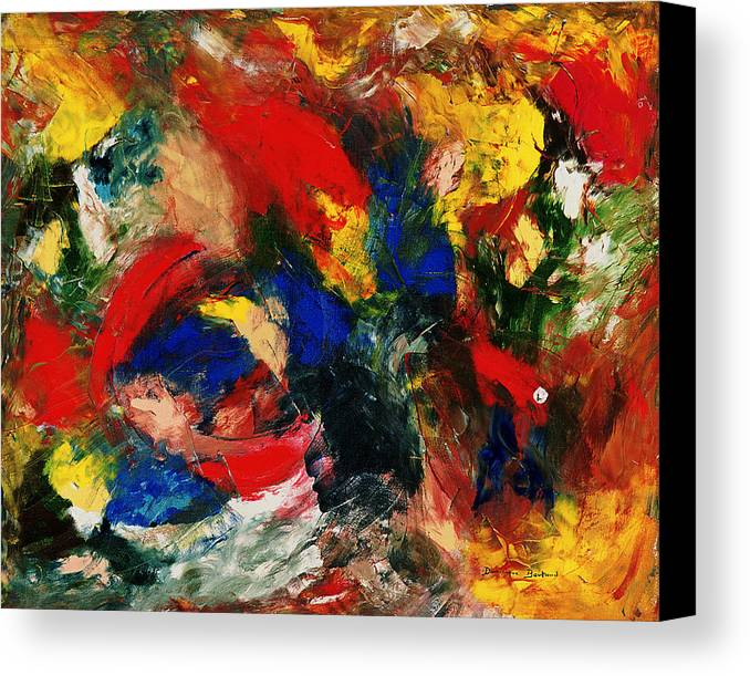 Abstract Canvas Print featuring the painting Le Veilleur D by Dominique Boutaud