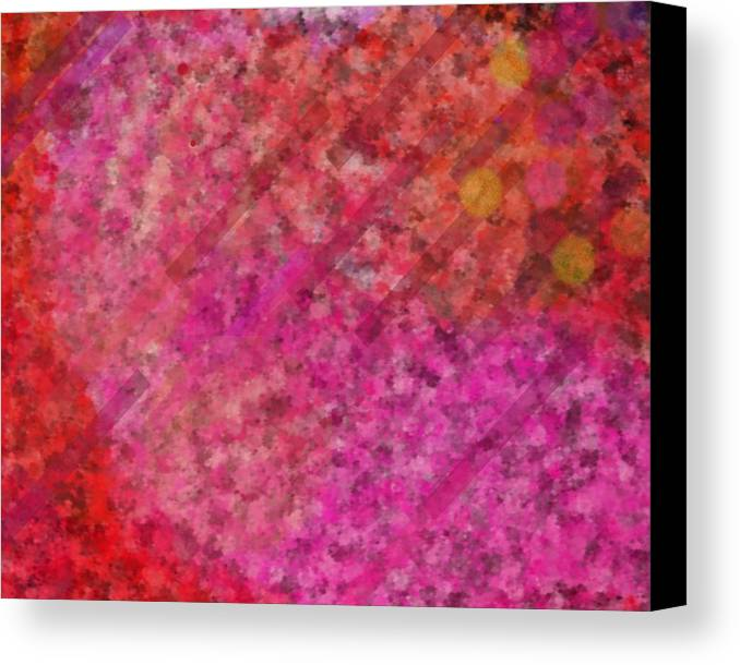 Lovely Canvas Print featuring the digital art Life Breathing Autumn by Jacquie King