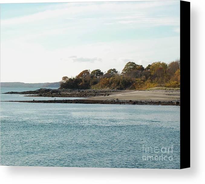 Island Canvas Print featuring the photograph Little Chebeague Beach by Faith Harron Boudreau