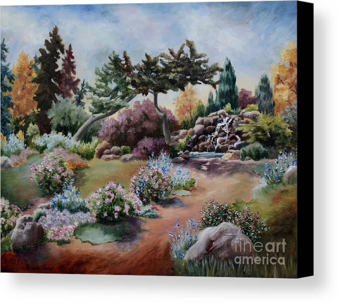 Garden Canvas Print featuring the painting Little Eden by Brenda Thour