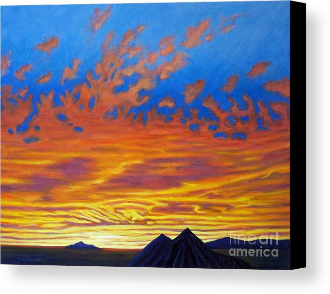 Landscape Canvas Print featuring the painting Looking To The Southwest by Brian Commerford
