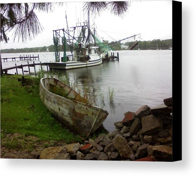 Boat Canvas Print featuring the photograph Lost Boat by Patricia Caldwell