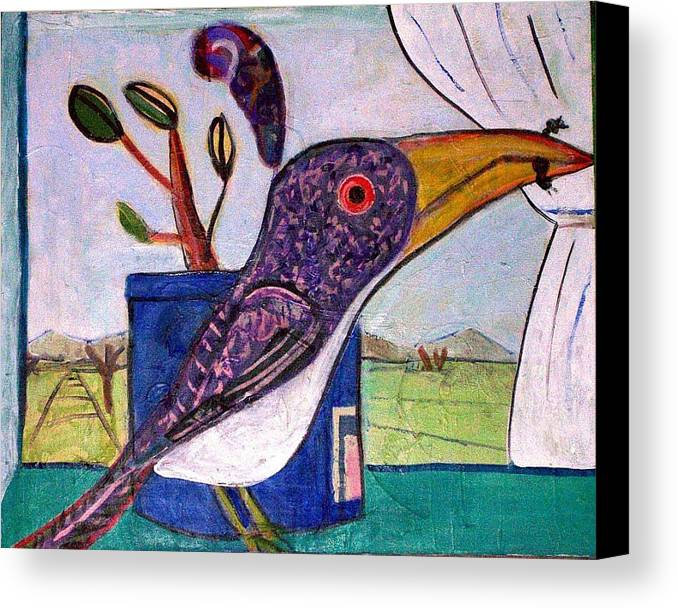 Bird Canvas Print featuring the mixed media Lunch by Dave Kwinter