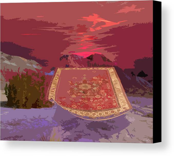 Canvas Print featuring the digital art Magic Carpet Ride by Melody Crighton