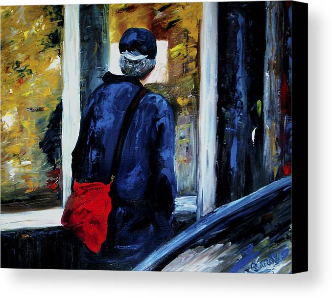 Candid Canvas Print featuring the painting Main Street by Linda Carroll