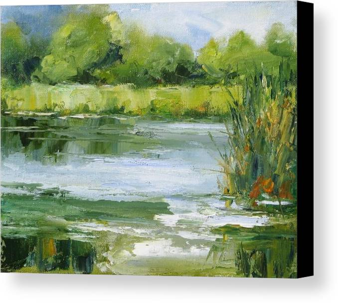 Plein Air Landscape Canvas Print featuring the painting Marsh Inlet by Barrett Edwards