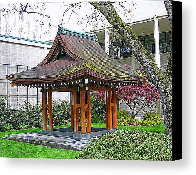 Japanese Canvas Print featuring the photograph Meditation Pagoda by Maro Kentros