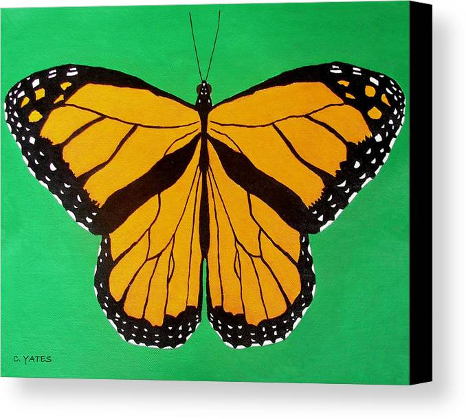 Fauna Canvas Print featuring the painting Monarch by Charles Yates