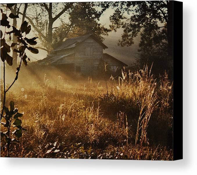 Landscape Canvas Print featuring the photograph Morning Glory by Lori Mellen-Pagliaro