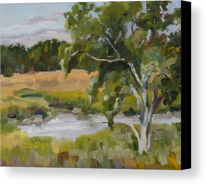 Impressionism Canvas Print featuring the painting Morning Transition by Barbara Jones