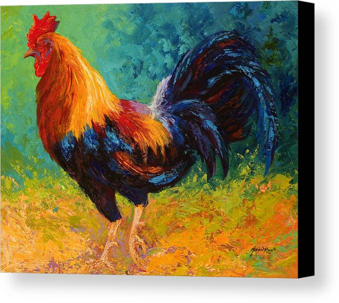 Rooster Canvas Print featuring the painting Mr Big by Marion Rose
