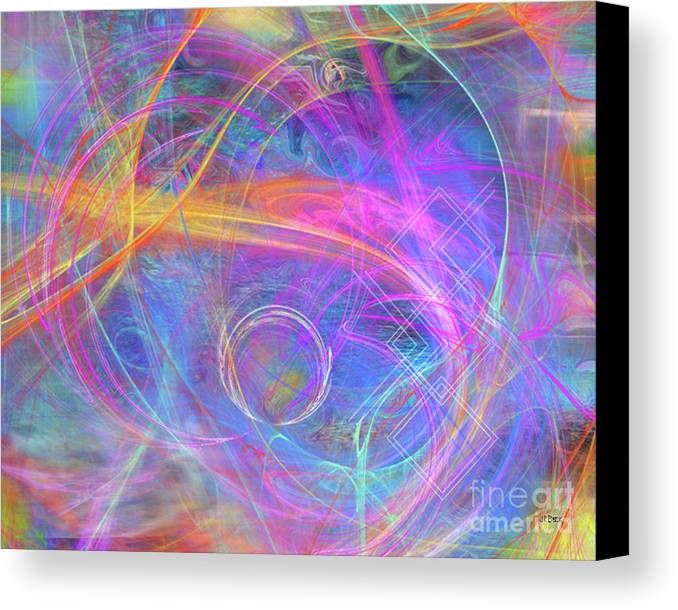 Mystic Beginning Canvas Print featuring the digital art Mystic Beginning by John Beck