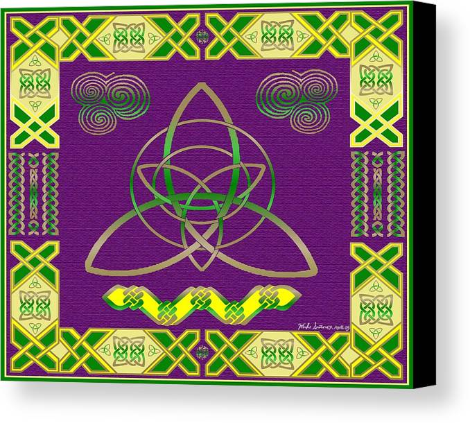 Celtic Knot Canvas Print featuring the painting Natural Knot by Mike Sexton