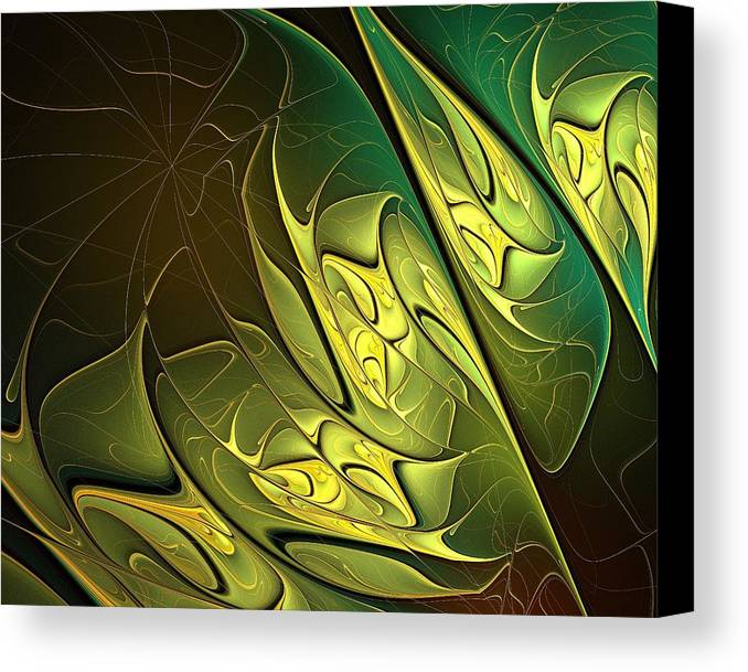 Digital Art Canvas Print featuring the digital art New Leaves by Amanda Moore