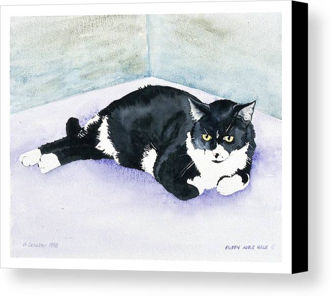 Portrait Canvas Print featuring the painting Nubby by Eileen Hale