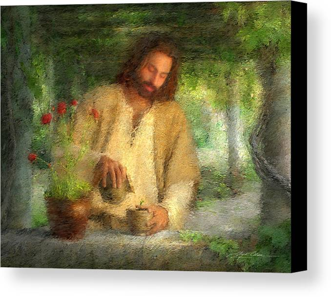 Jesus Canvas Print featuring the painting Nurtured By The Word by Greg Olsen