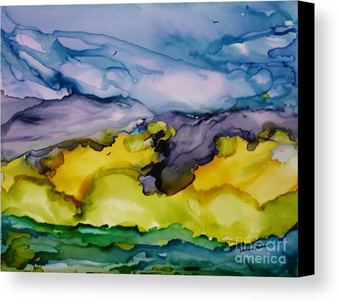 Landscape Canvas Print featuring the painting Ocean View by Susan Kubes