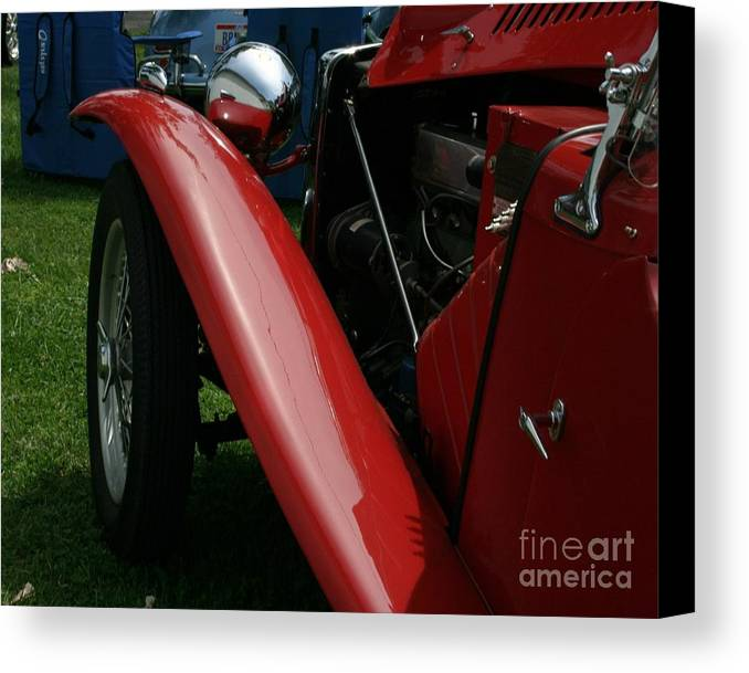 Mg Canvas Print featuring the photograph Old Mg by Dawn Downour