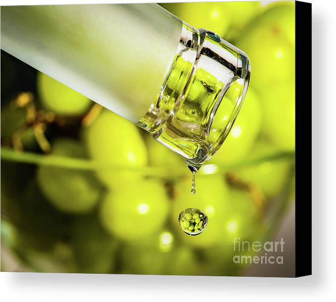 Macro Photography Canvas Print featuring the photograph Pour Me Some Vino by Alissa Beth Photography