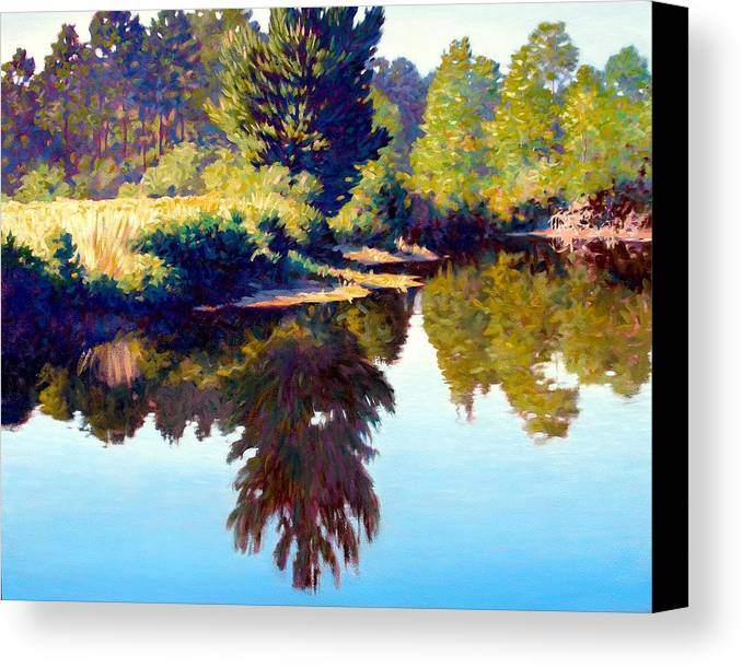 River Canvas Print featuring the painting Quiet Pond by Kevin Lawrence Leveque