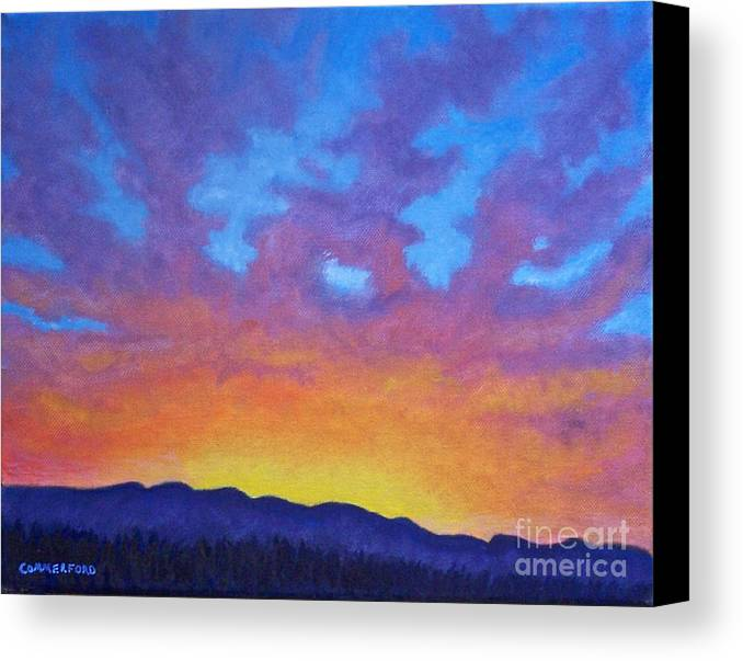 Landscape Canvas Print featuring the painting Radiance by Brian Commerford