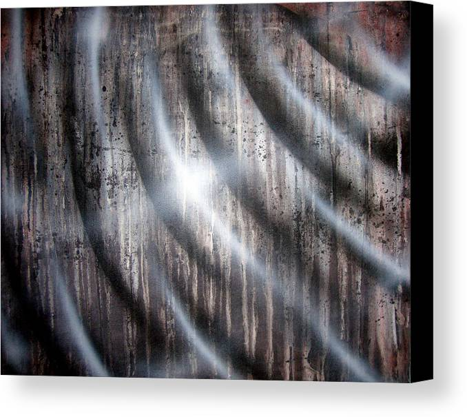 Rain Canvas Print featuring the painting Raining by Leigh Odom