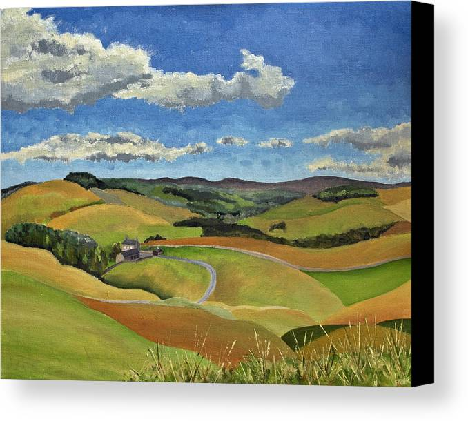 Landscape Canvas Print featuring the painting Redesdale I by Francis Robson