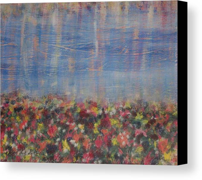 Floral Canvas Print featuring the painting Reflections by Jennifer Hernandez