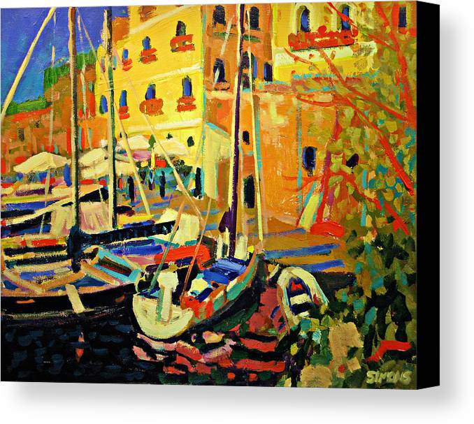Landscape Canvas Print featuring the painting Resort by Brian Simons