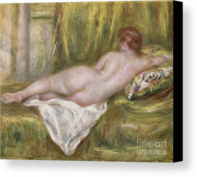 Renoir Canvas Print featuring the painting Rest After The Bath by Pierre Auguste Renoir