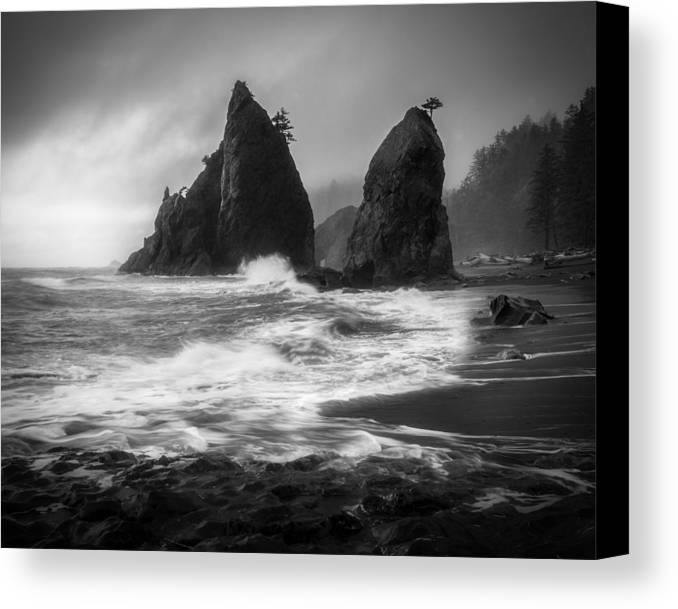 Olympic National Park Canvas Print featuring the photograph Rialto Beach by Thorsten Scheuermann