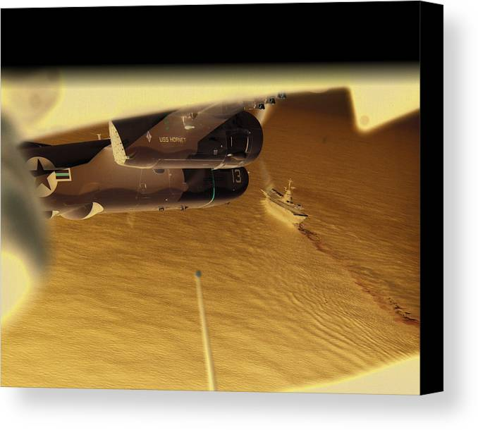 Naval Aviation Canvas Print featuring the photograph S2s In Delta by Mike Ray