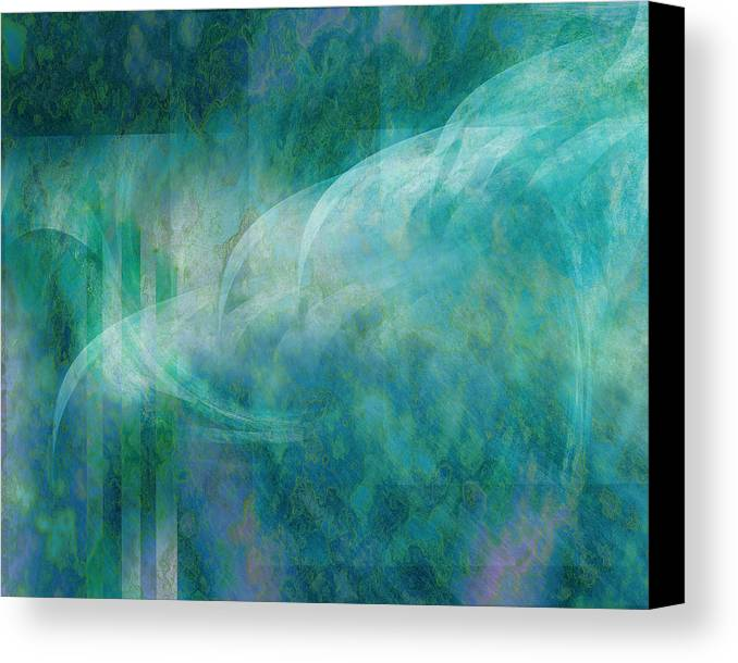 Sea Canvas Print featuring the digital art Sea Breeze by Gae Helton
