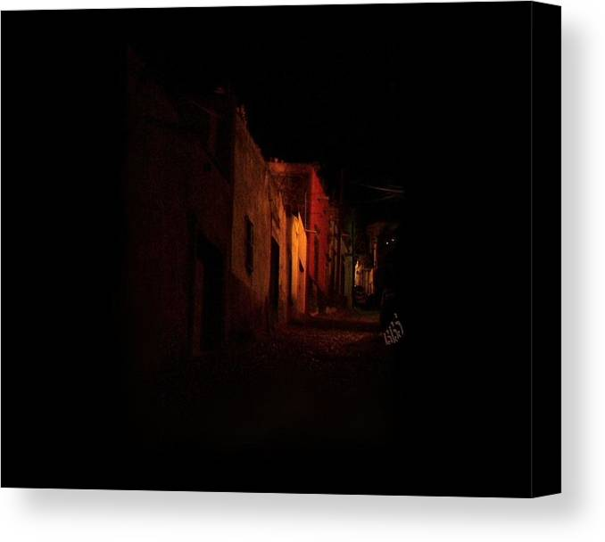 Mexico Canvas Print featuring the photograph Sereno Street by Kathy Simandl