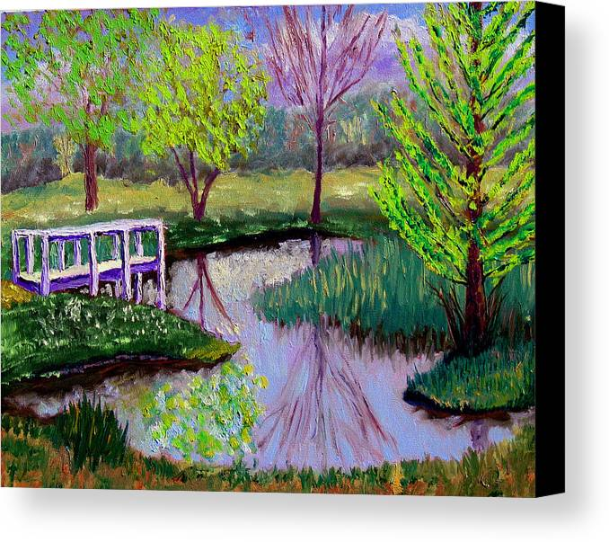 Landscape Canvas Print featuring the painting Sewp 5 2 by Stan Hamilton