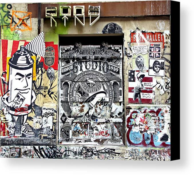 New York City Canvas Print featuring the photograph Soho Wall by JoAnn Lense