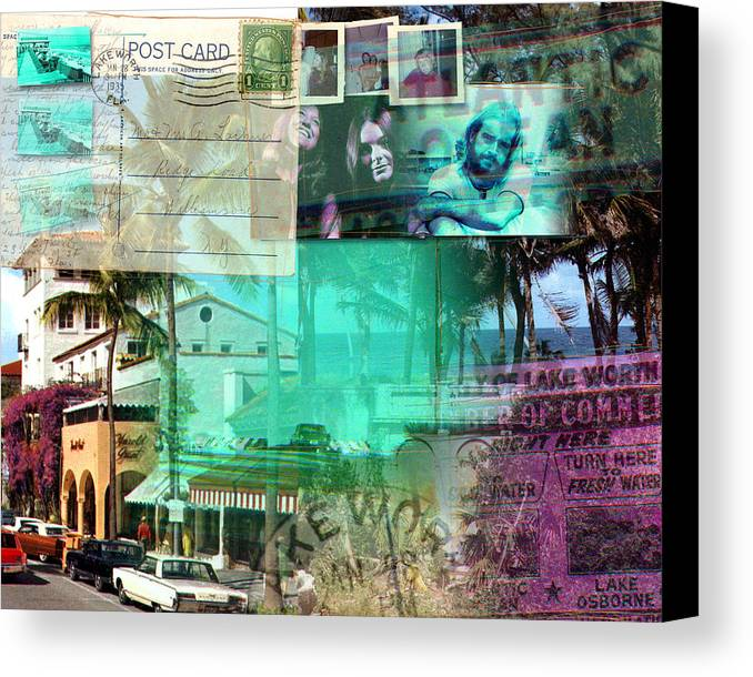 Lake Worth Canvas Print featuring the photograph South Florida Seventies by Deborah Hildinger