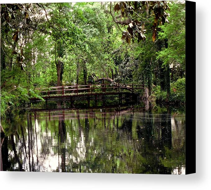 Bridge Canvas Print featuring the photograph Plantation Living by Gary Wonning
