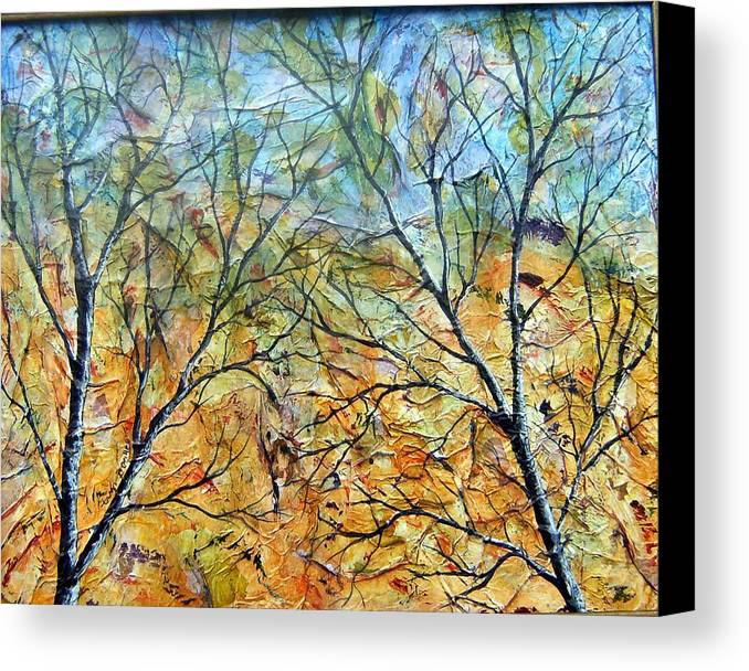 Canvas Print featuring the painting Spirit Trees 7 by Tami Booher