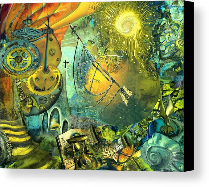 Science Canvas Print featuring the painting Stairway To Heaven by Anne Weirich