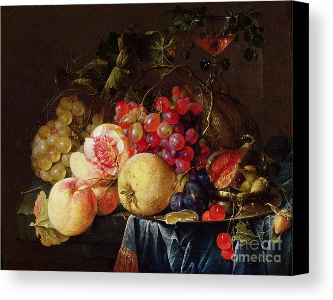 Still Canvas Print featuring the painting Still Life by Cornelis de Heem