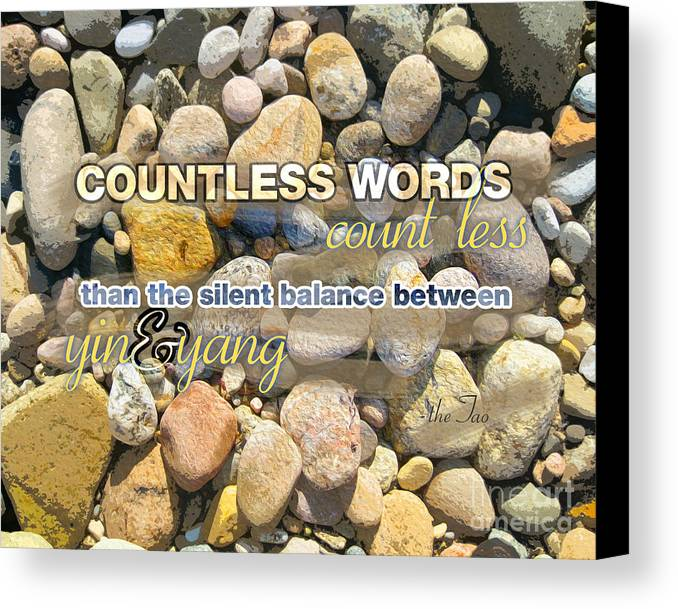 Canvas Print featuring the digital art Stone Wisdom by Joseph Re