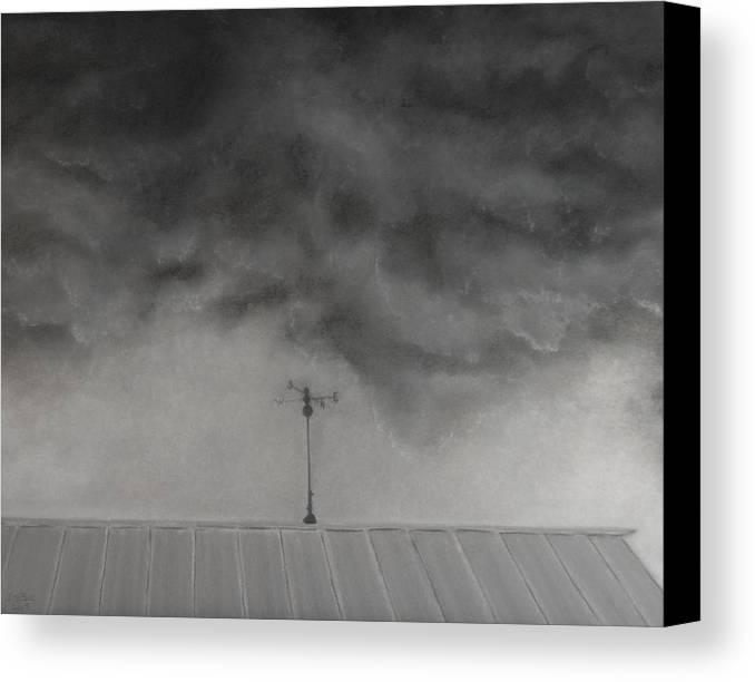 Sky Canvas Print featuring the painting Stormy Sky by Lisa Bell